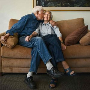 Morrie and Betty Markoff. Photograph: Karsten Thormaehlen